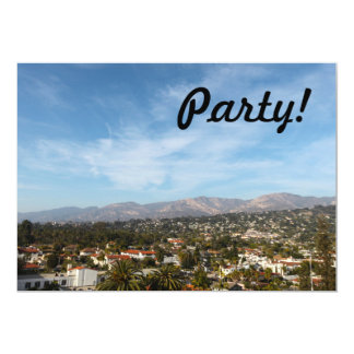 Santa Barbara 5x7 Paper Invitation Card