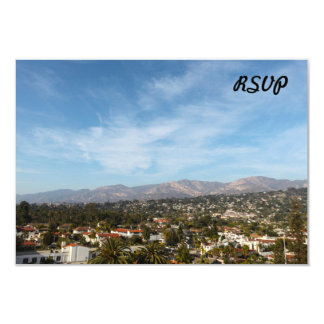 Santa Barbara 3.5x5 Paper Invitation Card
