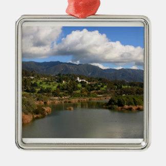 Santa Barbara Metal Ornament