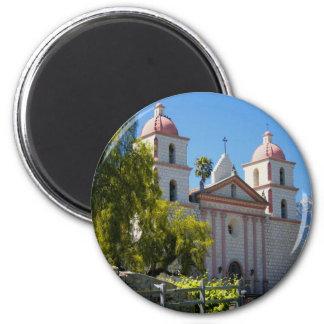 Santa Barbara Mission 2 Inch Round Magnet