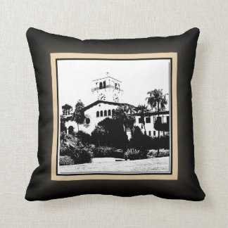 Santa Barbara Mission and Courthouse Pillow