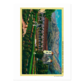 Santa Barbara Mission and Grounds Postcard
