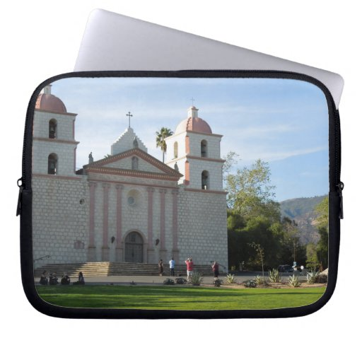 Santa Barbara Mission, California Computer Sleeves