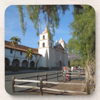 Santa Barbara Mission, California Drink Coaster