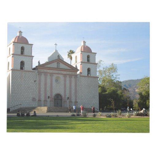 Santa Barbara Mission, California Scratch Pads