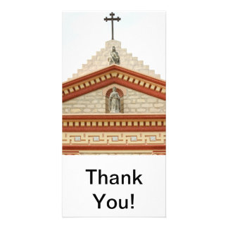 Santa Barbara Mission Cross Photo Card Template