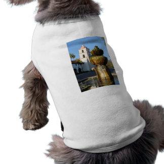 Santa Barbara Mission Fountain Pet T-shirt