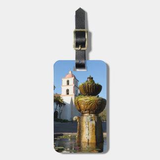 Santa Barbara Mission Fountain Luggage Tag