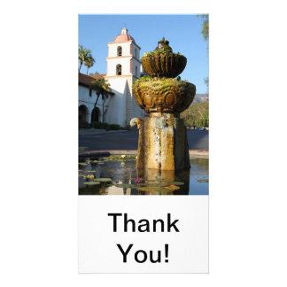 Santa Barbara Mission Fountain Photo Cards