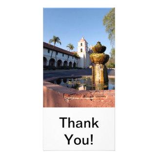 Santa Barbara Mission Fountain Photo Card