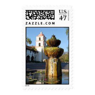 Santa Barbara Mission Fountain Postage