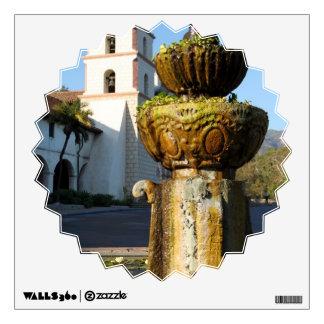 Santa Barbara Mission Fountain Wall Sticker