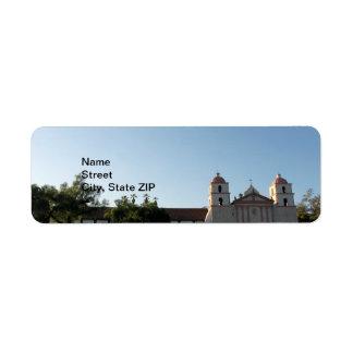 Santa Barbara Mission Label
