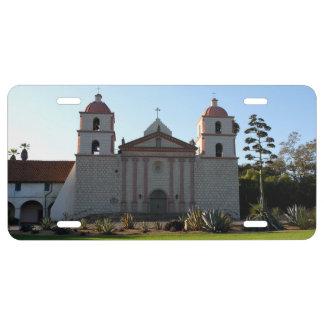 Santa Barbara Mission License Plate
