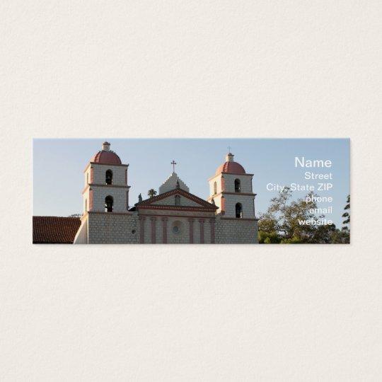 Santa Barbara Mission Mini Business Card