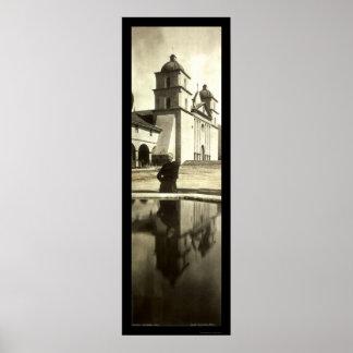 Santa Barbara Mission Photo 1908 Posters