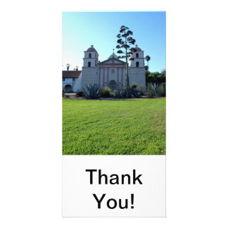 Santa Barbara Mission Personalized Photo Card