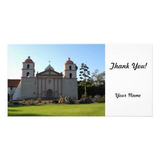 Santa Barbara Mission Custom Photo Card