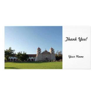Santa Barbara Mission Photo Card Template