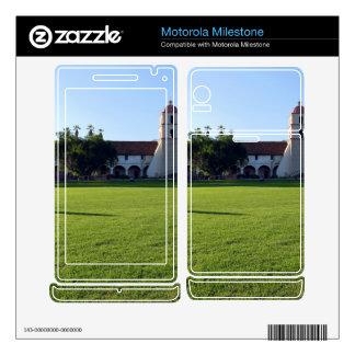 Santa Barbara Mission Motorola Milestone Decals