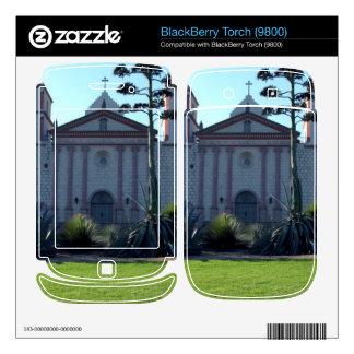 Santa Barbara Mission BlackBerry Torch Decal