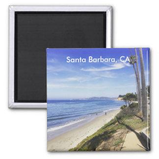 Santa Barbara Montecito California Butterfly Beach 2 Inch Square Magnet