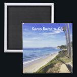 "Santa Barbara Montecito California Butterfly Beach Magnet<br><div class=""desc"">Take in the beautiful sight of the Pacific Ocean and California coastline in this magnet of Santa Barbara&#39;s Butterfly Beach.</div>"