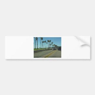 Santa Barbara Palmtrees Road Bumper Sticker