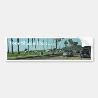 Santa Barbara Palmtrees Road Bumper Stickers