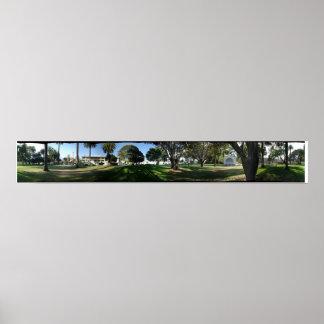 Santa Barbara Panorama- Pershing Park Print