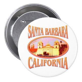 Santa Barbara Pin Redondo De 3 Pulgadas