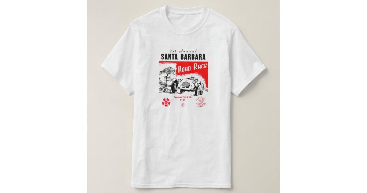 Santa barbara road race shirt zazzle for T shirt printing santa barbara