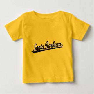 Santa Barbara script logo in black distressed Baby T-Shirt