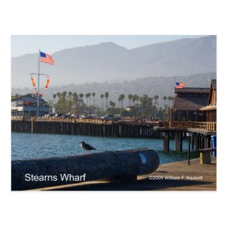 Santa Barbara Stearns Wharf Products Postcard