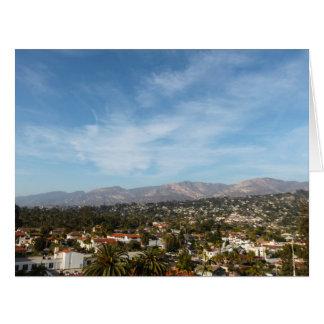 Santa Barbara Tarjeta De Felicitación Grande