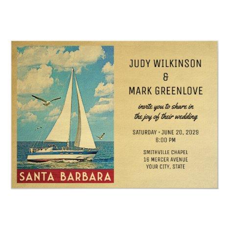 Santa Barbara Wedding Invitation Sailboat