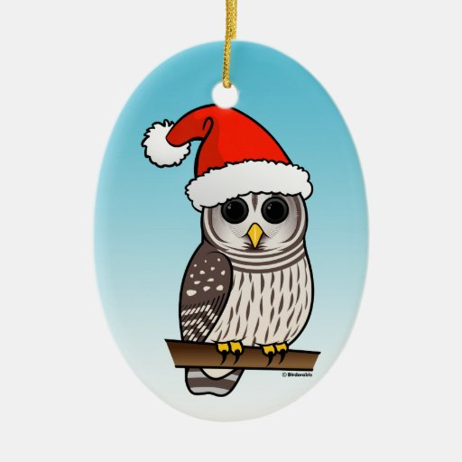 Santa Barred Owl Christmas Ornament