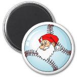 Santa Baseball Fridge Magnet