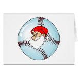 Santa Baseball Greeting Card