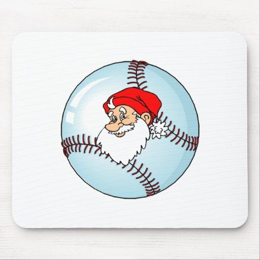 Santa Baseball Mouse Pad
