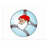 Santa Baseball Postcard