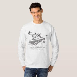 Santa Beach Time l-sleeve Christmas cartoon shirt