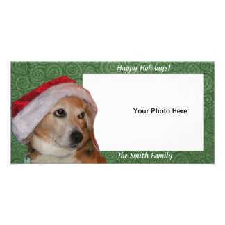 Santa Beagle Photo Card