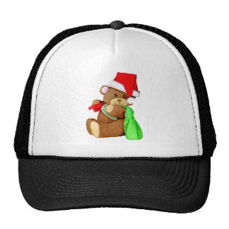 Santa Bear Delivering Goodies Trucker Hat