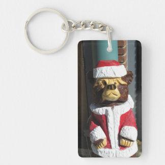 Santa Bear Keychain