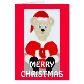 Santa Bear Merry Christmas Card