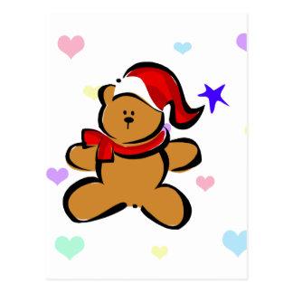 Santa Bear Postcard