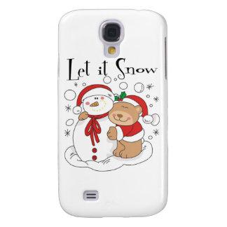 Santa Bear & Snowman Let It Snow Samsung Galaxy S4 Cover