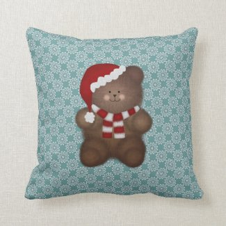 Santa Bear: Throw Pillow
