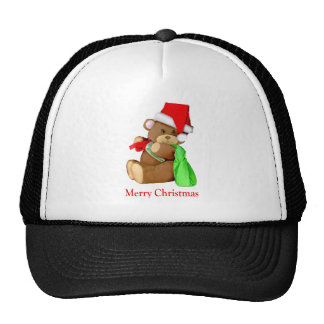 Santa Bear WishesYou a Merry Christmas Trucker Hat